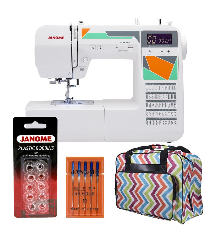 Janome MOD - 50 Sewing Machine with Bonus Tote Bag and Accessories