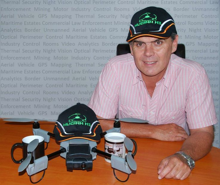 Timeless Technologies owner, Tinus Diedericks with Hugin Drone!