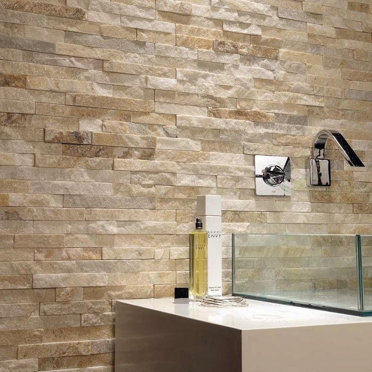 Sand Coloured Stone Feature Wall