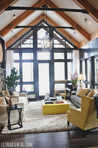 Stunning windows & beams on the ceiling!
