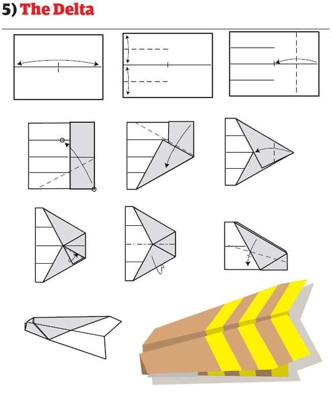 How To Build The World's Best Paper Airplanes, 12 different paper plane model instructions on this link!