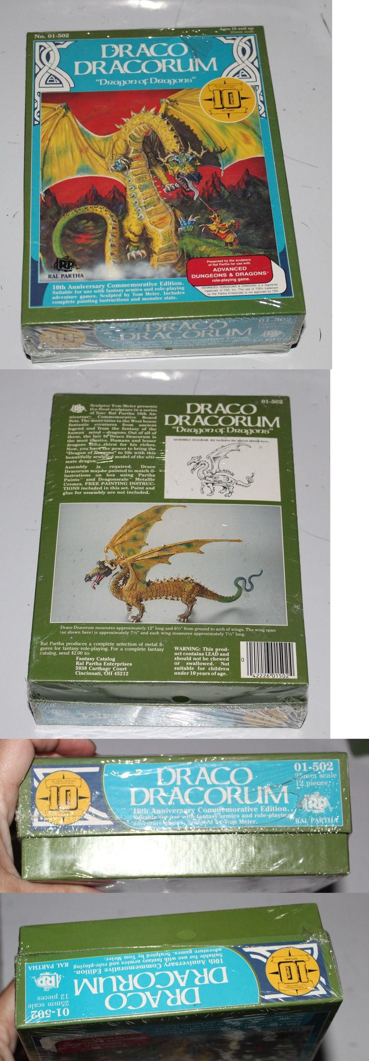 Ral Partha 16489: Draco Dracorum Ral Partha Adandd 01-502 10Th Anniversary Dragon Of Dragons Sealed -> BUY IT NOW ONLY: $499.95 on eBay!