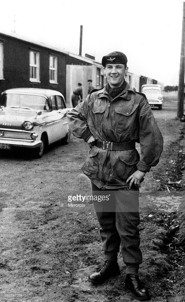 Billy Connolly, Scottish comedian, musician, presenter and actor. Circa 1972. Billy Connolly in Uniform, Territorial Army Reserve 15th (Scottish) Battalion, the Parachute Regiment