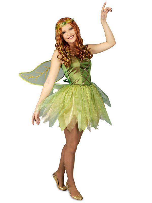 Elfe Waldfee Damenkostüm Märchen grün