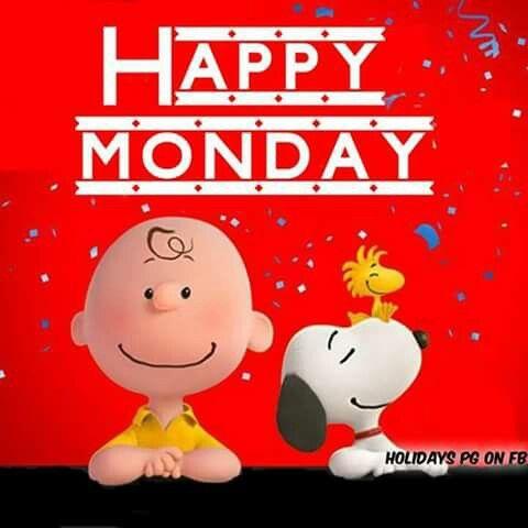 Happy Monday! --Peanuts Gang/Snoopy, Charlie Brown, & Woodstock
