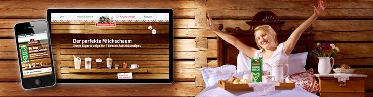 Innovatives Online-Konzept für die neue Frühstücksmilch