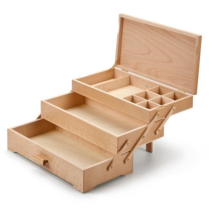 Sewing Box with 3 Drawers. Siempre he querido uno de estos!