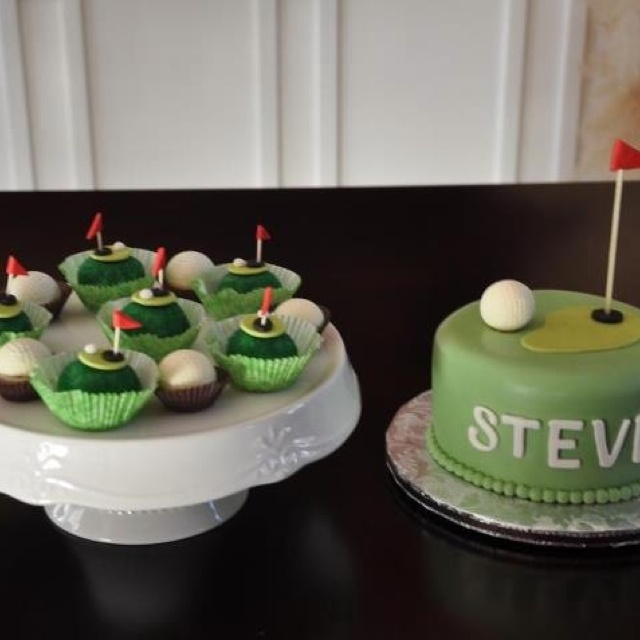 Golf candles cake decorating set