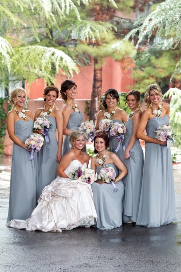 I like the color of the bridesmaids' dresses