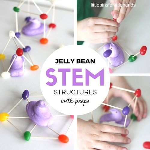 Building with jelly beans is the perfect Easter STEM and engineering project for kids this Spring. Why not add peeps and create a jelly bean STEM challenge.