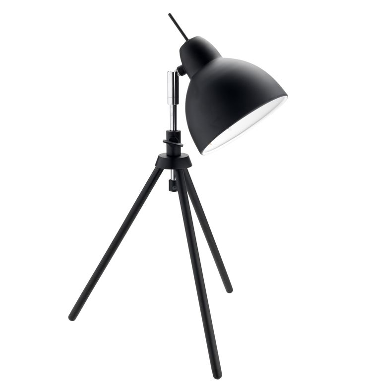 For instant atmosphere, swap overhead lighting for lamps. Classic styles, like this black tripod lamp, are at home in any décor. Priced at £25.