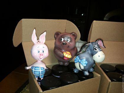Винни-пух Пятачёк Ослик Иа Новогодняя игрушка из папье-маше (небьющаяся) Цена 2500 руб./1 шт.