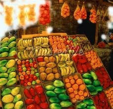African fresh fruit stand - this is what my dreams look like!