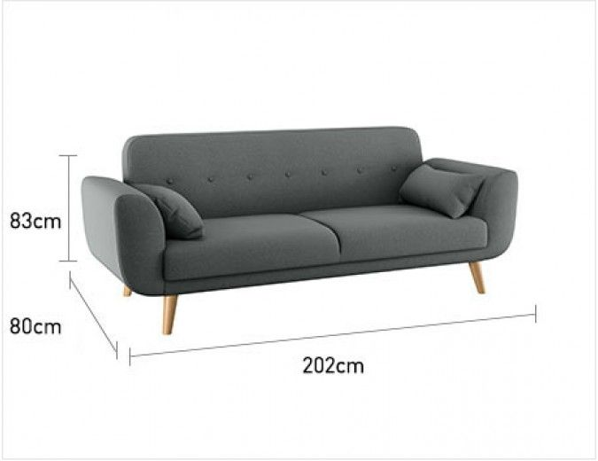 Pmore Grey Fabric 3 Seater Sofa Now At Habitat Uk