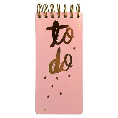 To Do List Pad - Black/Pink - Threshold