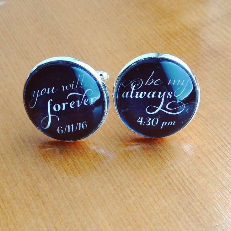 Bride asked me if I could personalize her groom wedding cuff links with their wedding date, sure can!