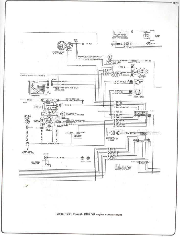 Box Diagram On Chevrolet Truck V8 1981 1987 Electrical Wiring Diagram