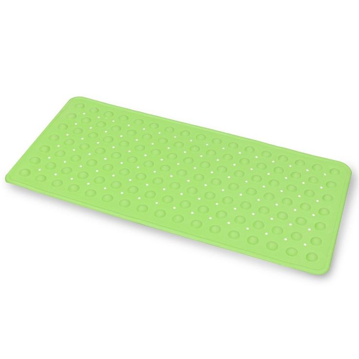 Emmzoe Bubble Rubber Anti-Slip Bath Mat 14 X 30 Inches Kid Friendly Non-Toxic