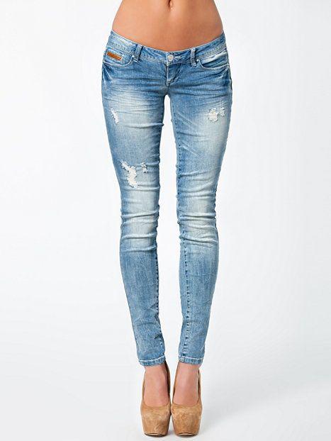 Coral Superlow Skinny Jeans - Only - Denim Blå - Jeans - Klær - Kvinne - Nelly.com