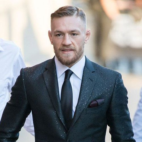 Conor McGregor Haircut - High Skin Fade with Hard Side Part