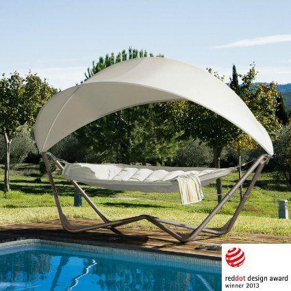 Gondola Hammock Hängematte Mit Gestell Und Sonnensegel UV 50+ NEU/OVP In  Weiß