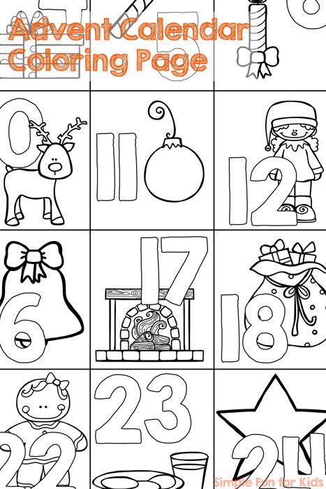 24 Days of Christmas Printables - Day 1! Get ready for the Christmas countdown with this cute no-prep advent calendar coloring page!