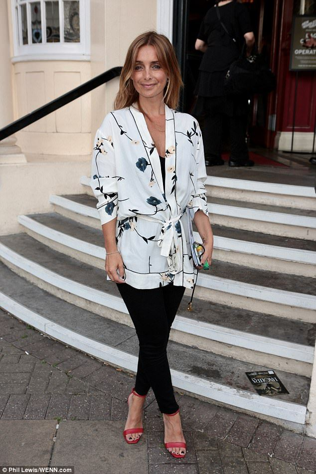 Sizzling: Louise Redknapp looked keen to forget her business woes as she enjoyed a night out with her Strictly Come Dancing co-stars to celebrate the launch of professionals Kevin & Karen Clifton's Dance Tour in London on Saturday