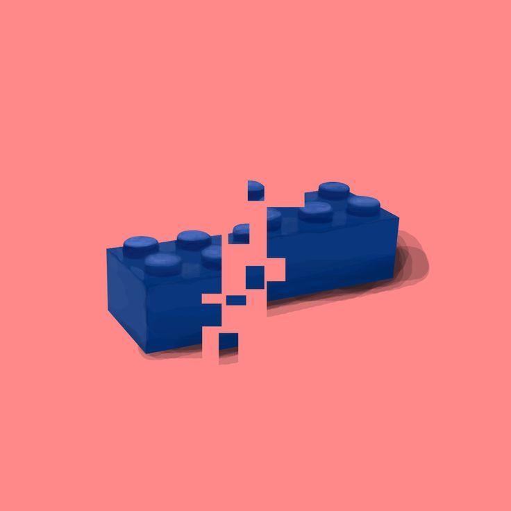 Illustration / Lego / Toy / Glass / Fragile / Digital Art / Digital Painting / Minimalism / Illustration / Design / Concept / CD Cover / Album Cover