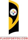 Steelers Tall Team Flag 8.5' x 2.5'
