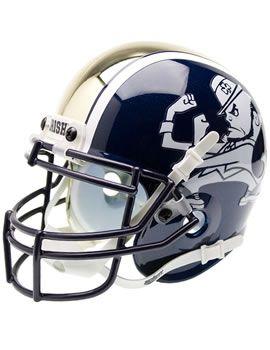 SCHUTT SPORTS : University of Notre Dame Replica Mini Football Helmet : Hammes Notre Dame Bookstore : www.nd.bkstr.com