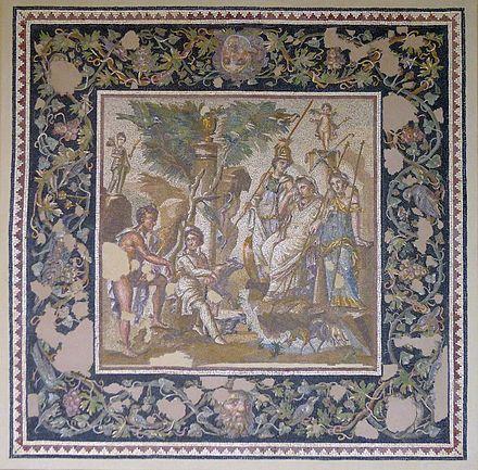 Mosaique antioche opus vermiculatum ml
