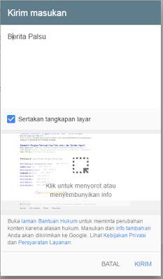cara mengatasi dan melaporkan berita hoax google
