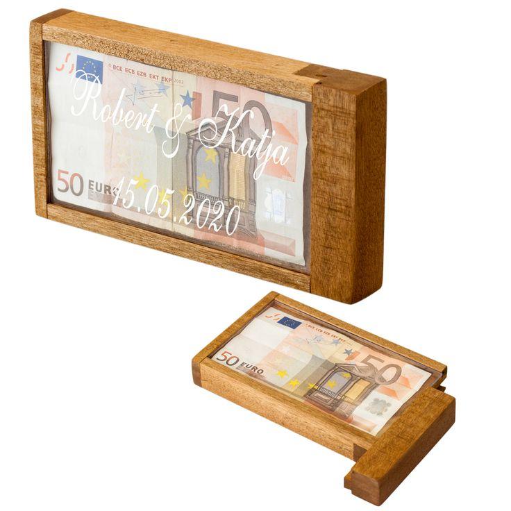 Magische Geldgeschenkbox Gravierte Geldgeschenkbox Geldgeschenk: Kreativ und witzig verpackt. Öffnungsmechanismus: Lässt sich nur mit einem Trick öffnen . Gravur: Auf Wunsch gravieren wir Ihren Wunschtext bis zu...