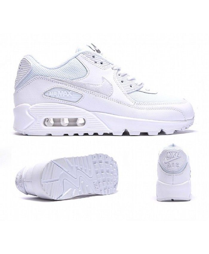 Nike Air Max 90 Junior All White Trainer