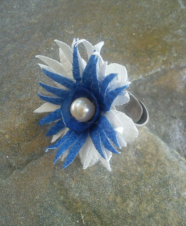 hand made silk cocoons jewelry - ring No32