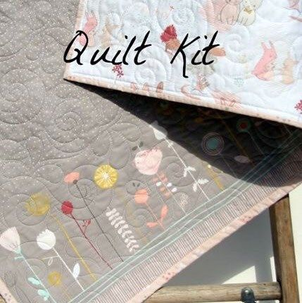 Simple quick and easy wholecloth baby quilt kit!
