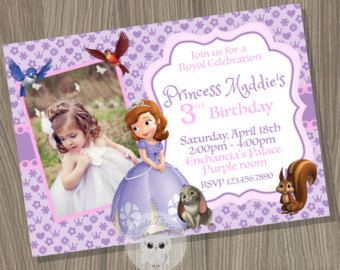 Sofia the first invitation Princess Sofia Invitation