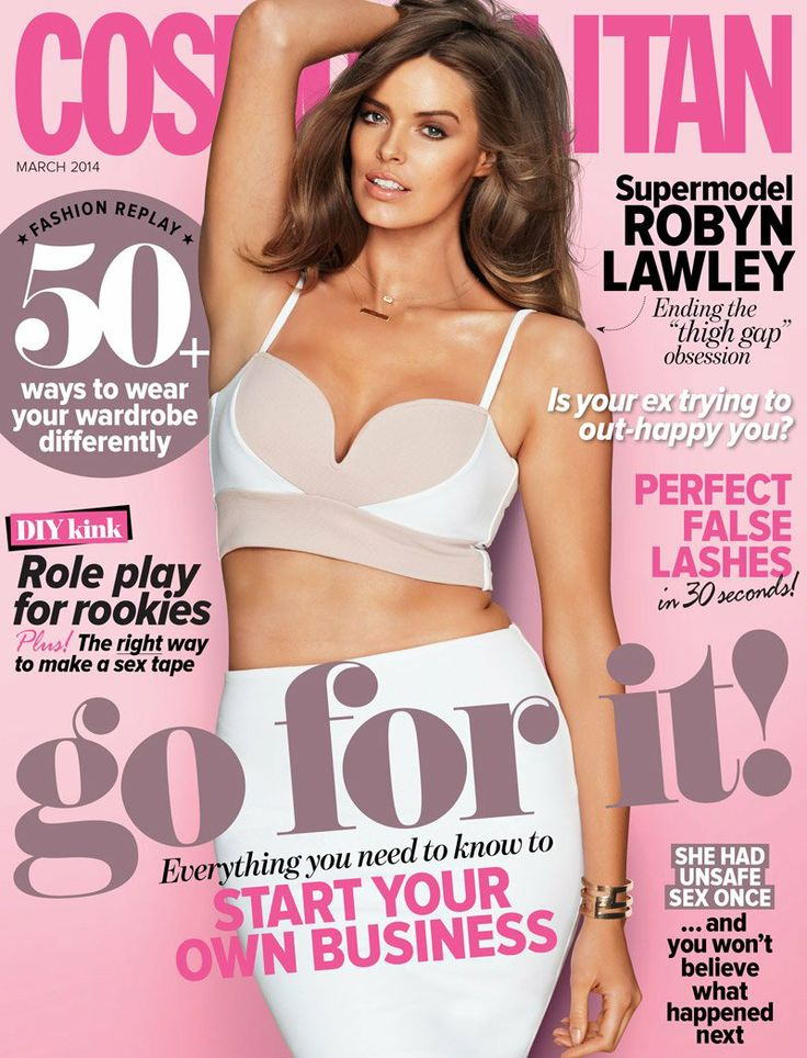 Cosmopolitan Australia | March 2014 | Robyn Lawley stuns for the cover shot by Kane Skennar. #magazinecovers #robynlawley