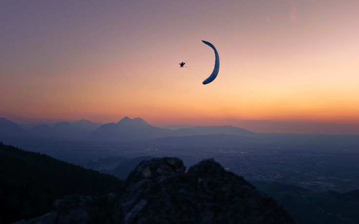 Magic Hour Paragliding by Christoph Oberschneider on 500px