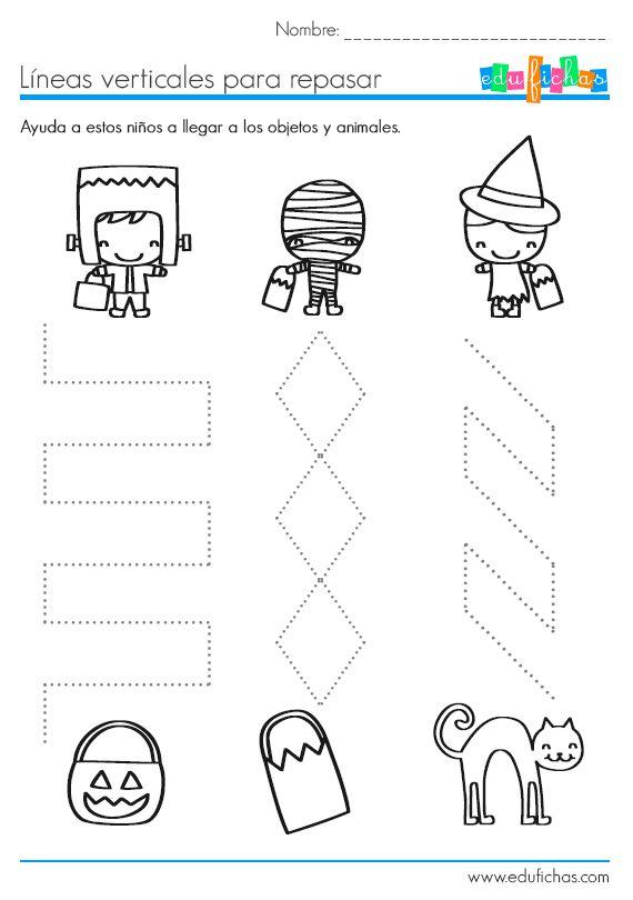 lineas complejas verticales halloween | Preescolar | Pinterest ...