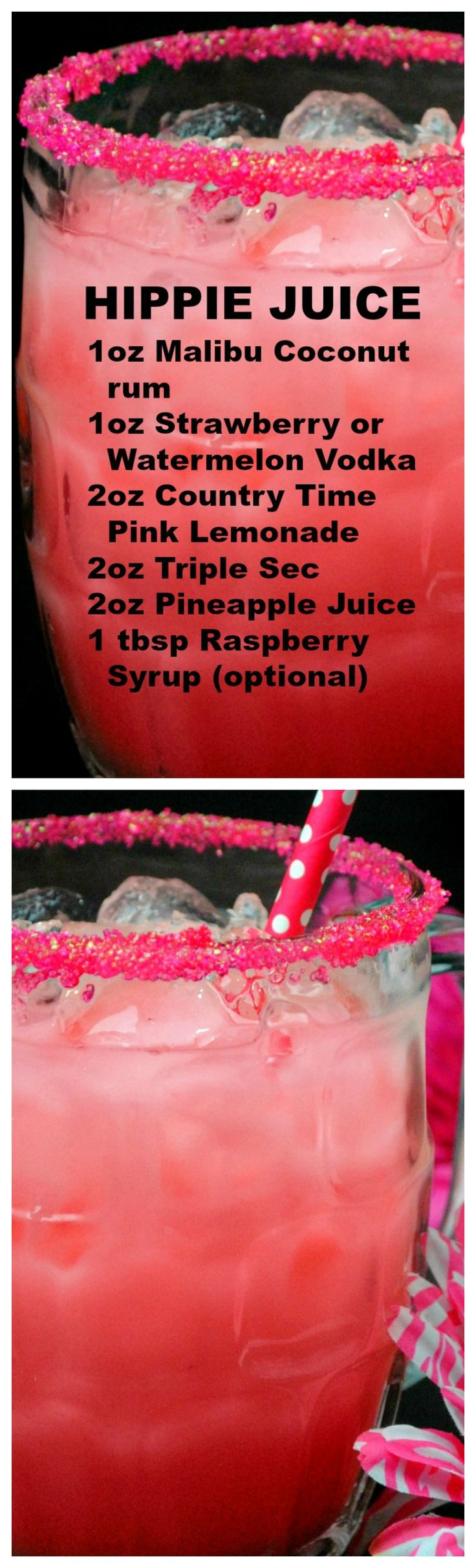Hippie Juice ~ One of those beautiful drinks, that taste incredible but pack a punch!