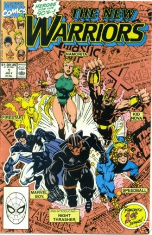 The New Warriors. Issue No. 1.: Comic Books, Marvel Comics, Comics Covers, Warriors, Comic Covers, Book Covers, Comic Art, Night Thrasher