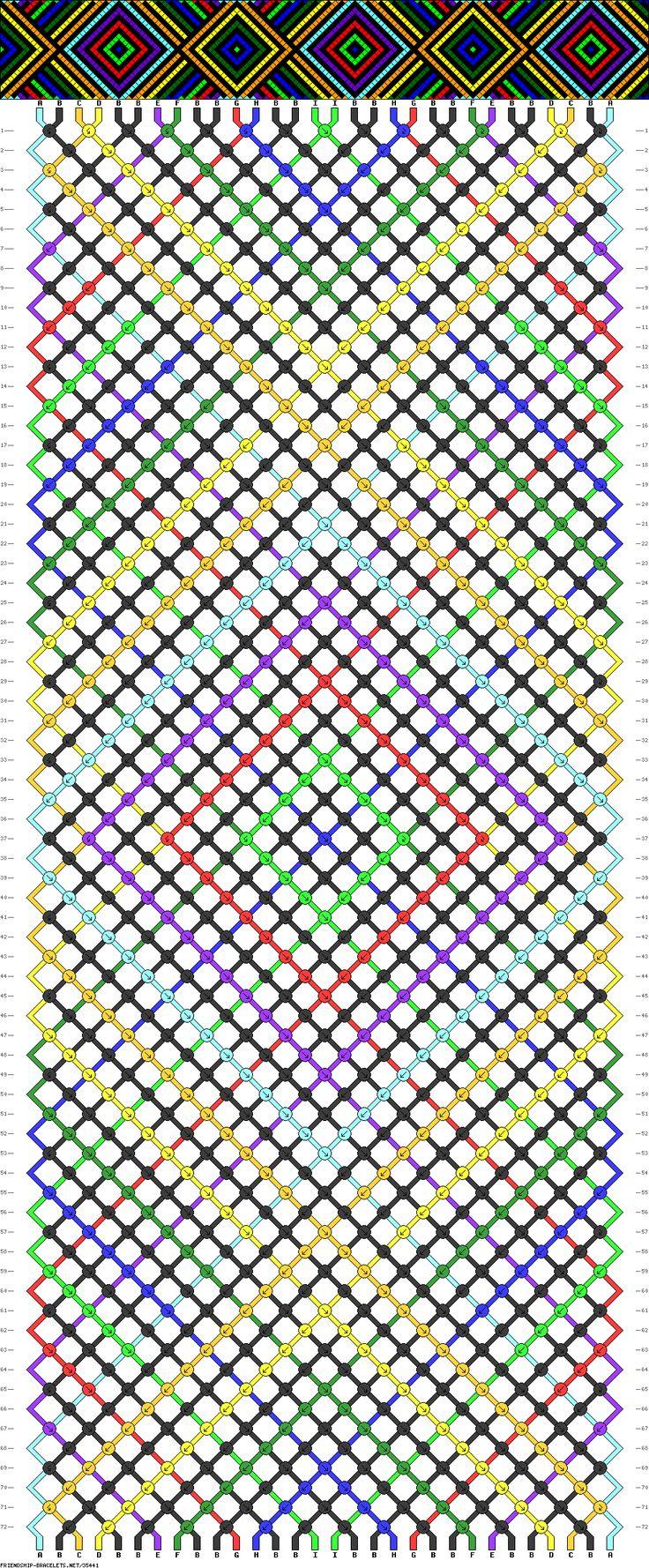 30 strings, 9 colors, 72 rows