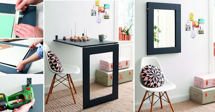 Choose this double function table for your tiny flat!