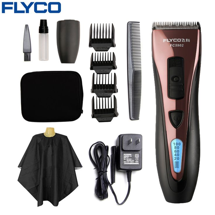 FLYCO Cheveux Professionnel En Acier Inoxydable Tondeuses Électrique étanche Tondeuses pour Hommes avec LED Spectacle De Coupe machine FC5902