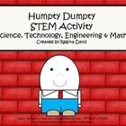 STEM activities may seem daunting when teaching young children. This is a STEM activity that I created to go with the nursery rhyme, Humpty Dumpty....