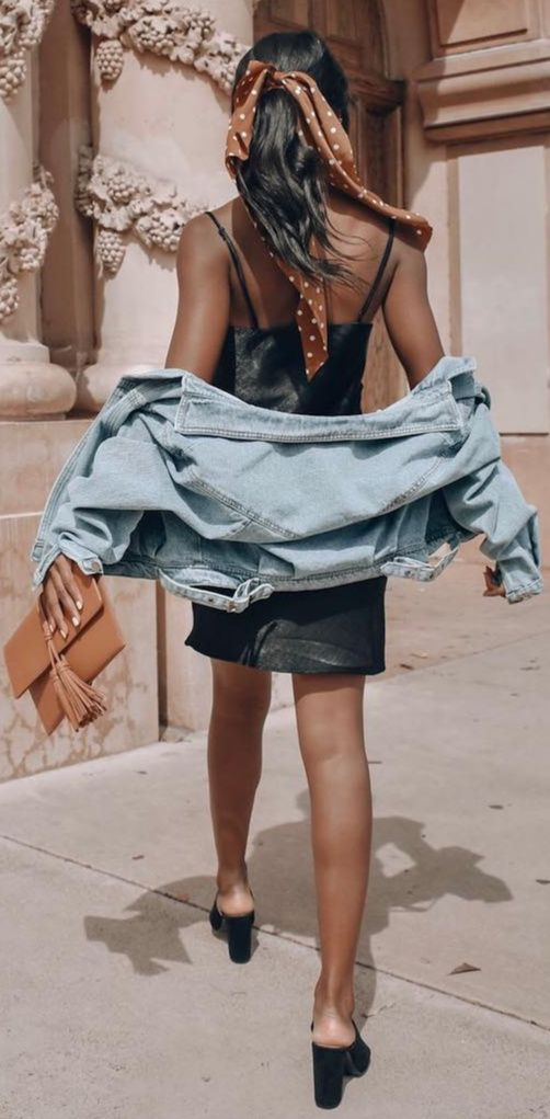 a3fa5916b32 A black satin mini dress is a fashion must. The styling options are  endless. Try out a new spring uniform  a black short dress ...