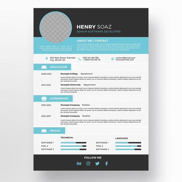 Creative Resume Template Creative Resume Resume Template Creative Curriculum