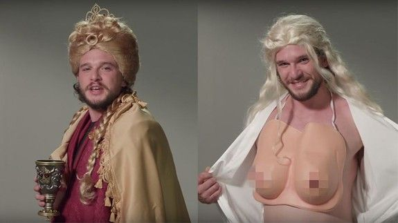 """Kit Harington auditions for 6 different 'Game of Thrones' parts nails it  Kit Harington is clearly a versatile actor.  It's obvious. Not only has he nailed the role of everyone's favourite bastard Jon Snow but it turns out he can fill his fellow Game of Thrones actors' shoes just as easily.  SEE ALSO: Kit Harington had an awkward first meeting with Ed Sheeran in a men's toilet  As part of a segment for Jimmy Kimmel Live Harington """"auditioned"""" for the roles of Cersei Arya Ygritte Hodor…"""