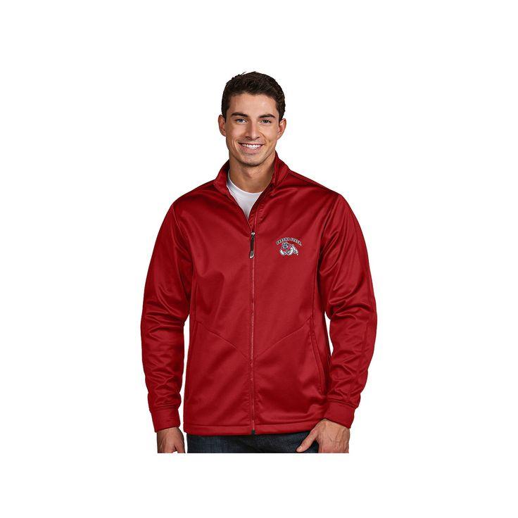 Men's Antigua Fresno State Bulldogs Waterproof Golf Jacket, Size: Medium, Dark Red